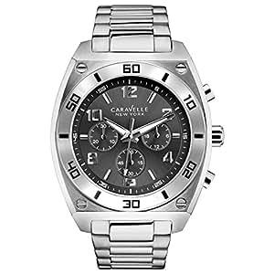 caravelle new york herren armbanduhr chronograph quarz edelstahl 43a120 uhren. Black Bedroom Furniture Sets. Home Design Ideas