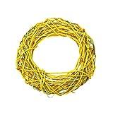 gelb grün Weidenkranz 30 x 30 cm Kranz Türdekoration Türkranz Weide