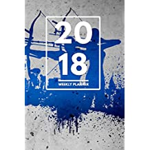 """2018 Planner: Weekly Monthly Planner Calendar Appointment Book For 2018 6"""" x 9"""" - Bow And Arrow Archery Edition (2018 Weekly Planner)"""