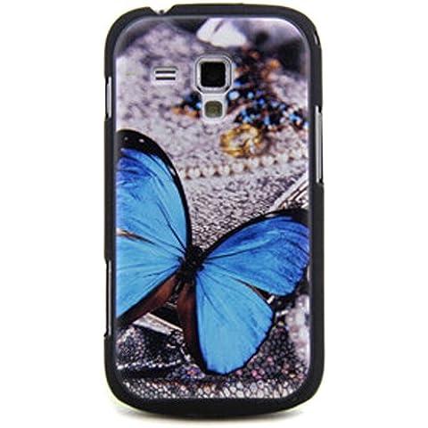 Semoss Funda de broche de presión en funda Carcasa rígida Para Samsung Galaxy Trend GT-S7560 / Galaxy S Duos S7562 (Con