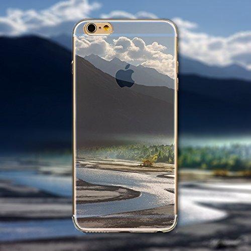 Coque iPhone 7 Plus Housse étui-Case Transparent Liquid Crystal en TPU Silicone Clair,Protection Ultra Mince Premium,Coque Prime pour iPhone 7 Plus-Paysage-style 15 17