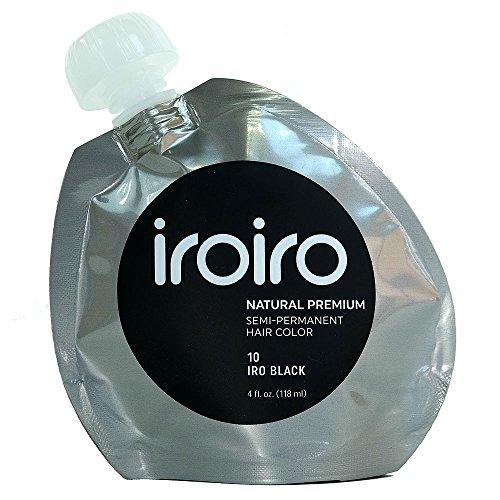Iroiro Premium Natural Semi-permanenten Haar Farbe 10Iro-Schwarz 4Oz