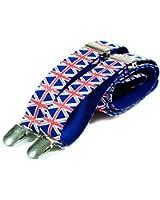 Union Jack Design Retro Trouser Braces Suspenders - UK Flag