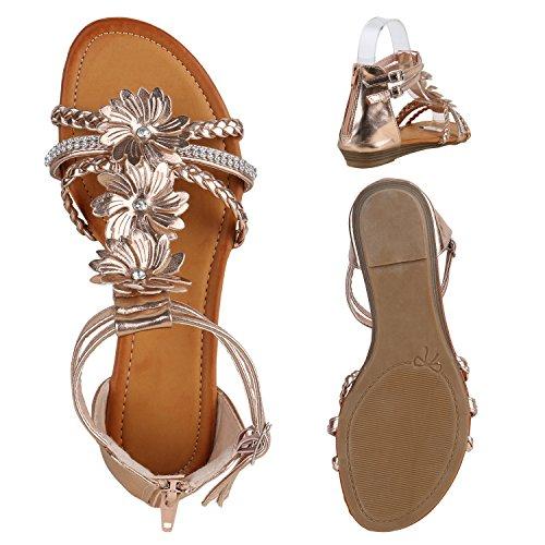 Cunha Rosa Strass De Interdependência Mulheres Sandálias Cunha Ouro sandálias Flores Salto Confortáveis AzT0p