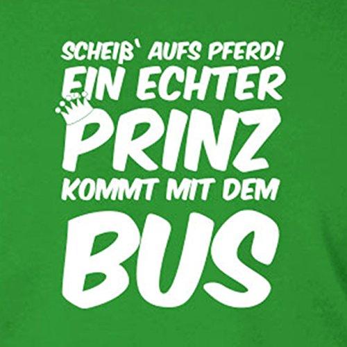 Ein echter Prinz kommt mit dem Bus - Stofftasche / Beutel Braun
