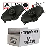 FIAT Ducato 230 Front - Lautsprecher Boxen Audio System MXC 406 Evo - 4x6' (10x15cm) Oval Koax Auto Einbausatz - Einbauset
