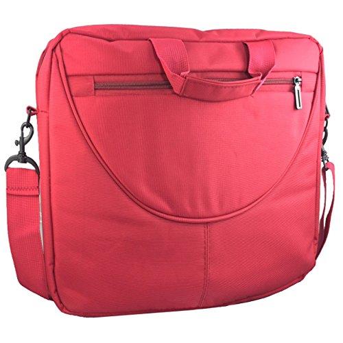 Laptoptasche für HKC NT14W-DE Businesstasche / Aktentasche / Notebooktasche mit Schultergurt - LB Rot