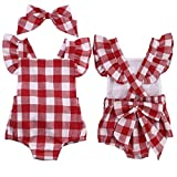 Overdose Baby Girls Floral Sleeveless Jumpsuit Outfits (6-12 Months, Y01)