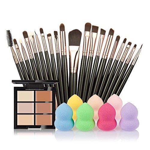 vovotrade-6-colores-ocultador-20pcs-cepillo-del-maquillaje-1pc-gotitas-de-agua-soplocolor-d