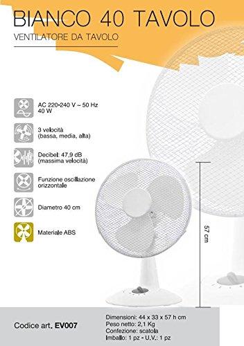 Domair SW40 Brumiventilateur 40 cm 80 W Noir