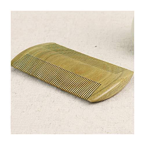 MIIAOPAI 9.7 * 5.4 * 0.9cm Pinzas Peine Ultra Encriptado NiñOs Adultos Hogar Peine Verde SáNdalo Peine