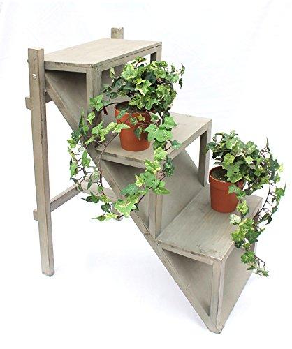 floristikvergleich.de DanDiBo Blumentreppe 14B370 aus Holz 66 cm Blumenständer Pflanzentreppe Blumenregal Rega