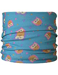 Multifunctional Headwear (CHILD SIZE) Owl on Turquoise