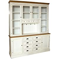 Comparador de precios Casa-Padrino Country Style Wall Cabinet Antique White/Brown 160 x 43 x H. 220 cm - Country Style Furniture - precios baratos