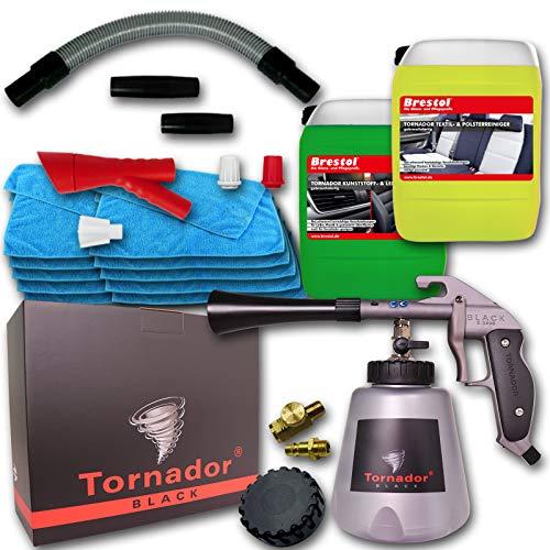 Tornador Black Z-020S + Rotador Adaptor Z300 + gebrauchsfertiges UNIVERSALREINIGUNGSSET 2x 5 Liter Reiniger + 10x Mikrofasertuch Universaltuch Stoffreiniger Textilreiniger Polsterreiniger Teppichreiniger Kunststoffreiniger Lederreiniger