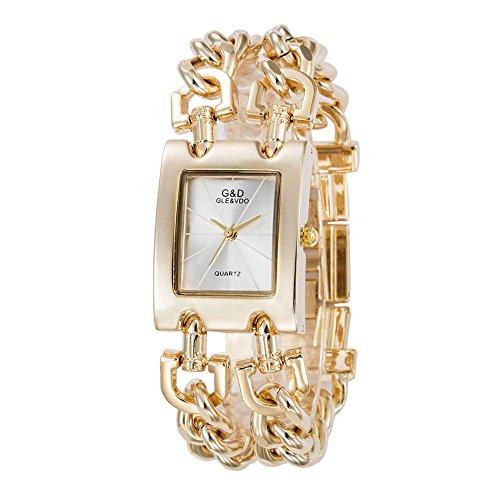 Tocoss(TM) Fashion Party-Frauen-Uhren-Armband-Uhr-Dame-Uhr-Quarz-Mann-Frauen-Unisexkleid Armbanduhr [4]