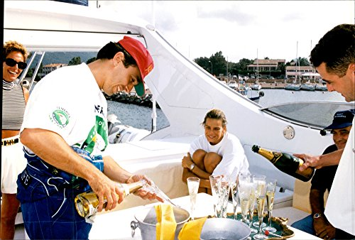 vintage-photo-of-princess-stephanie-of-monaco-enjoys-having-a-little-bubble-on-board-a-yacht