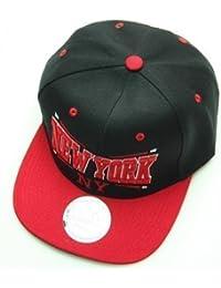 New York Black Red Snapback Cap