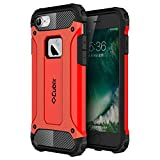 #8: Cubix Tough Armor Slim Rugged Military-Grade Drop Tested Case Defense Shield Shock Resistant Hybrid Heavy Duty Back Cover Case for Apple iPhone 7 (Red)