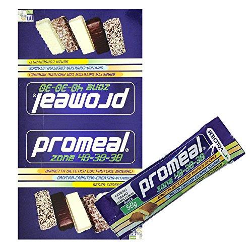 Volchem Promeal 12 Barrette Proteiche da 50 gr. per Dieta a Zona 40-30-30 GUSTO COOKIE ( BISCOTTO ) - 51H01 zvwML