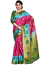 Mimosa By Kupinda Women's Art Silk Saree Kanchipuram Style (Latest Designer Sarees /Party Wear Sarees /New Collection...