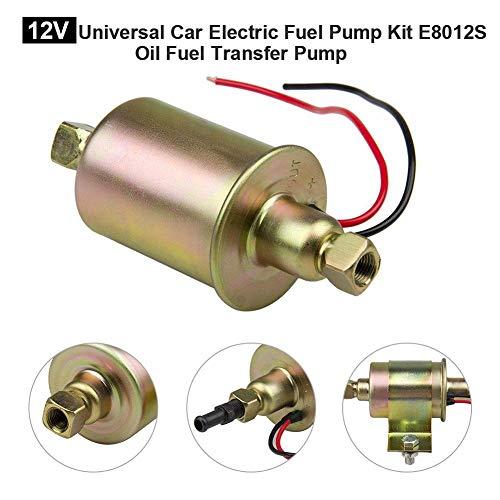 Yunhigh Pompa Universale per Pompa Carburante per Auto elettrica 12V E8012S Pompa trasferimento Olio per Carburante in Metallo