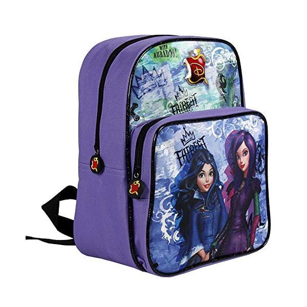 51H01tiReEL. SS600  - Descendants 13734 - Pequeña mochila de niña con gran compartimiento de la serie animada Disney Descendientes, morado