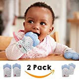 Pumpkin Baby Teething Gloves x2 | Best Self Soothing Baby Teether Toy | Pair of Hand Mitts/Mittens | Pain Relief for Sore Gums | BPA Free Silicone | Suitable for 3-12 Months | Suitable for 6 months | Instantly Less Irritable Happy Content Baby