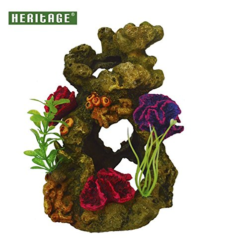 Heritage tb150tanque de peces de acuario de arrecife de coral en rocas adorno pintado decoración Ocultar trajes Biorb 30/60