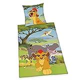 Herding 4430201050 Bettwäsche Disney's Lion Guard, Kopfkissenbezug: 80 x 80 cm + Bettbezug: 135 x 200 cm, 100% Baumwolle, Linon
