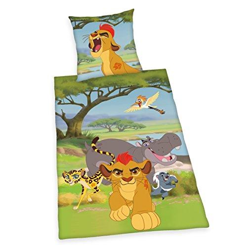 König Bettbezug Bettwäsche-set (Herding 4430201050 Bettwäsche Disney's Lion Guard, Kopfkissenbezug: 80 x 80 cm + Bettbezug: 135 x 200 cm, 100 % Baumwolle, Linon)