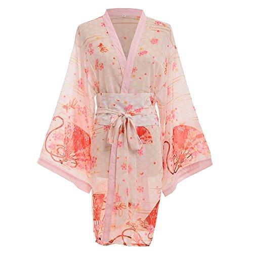 GRACEART Mujeres Sexy Kimono Yukata con Cinturón (Large)