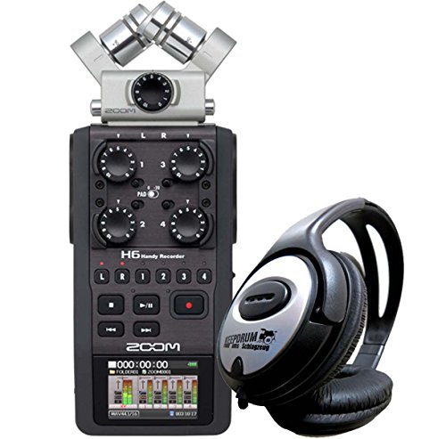 Zoom H6 Handy Recorder keepdrum Cuffie Gratis.