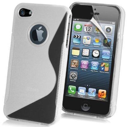 NWNK13 iPhone 5/5 G/5S Premium Weich Gelee TPU Gel Schutzhülle inklusive Displayschutzfolie & Reinigungstuch Clear - Sline (Jean Distressed Mini)