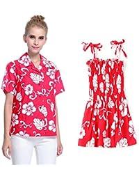 06a84e626 Hawaii Hangover Conjunto de Luau Hawaiano a Juego con la Hija de la Madre  Señora Camisa