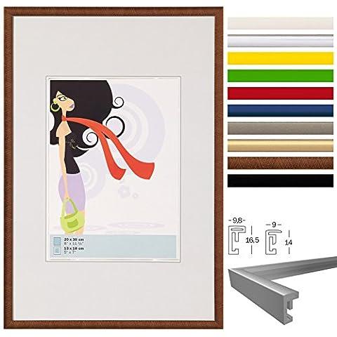 WOLTU #315 Bilderrahmen Bildergalerie Fotogalerie , Foto Collage Galerie , Kunststoff und Echtglas , New Life Style , Bronze , 13x18