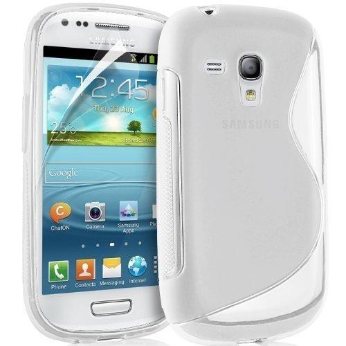 EASYPLACE - Custodia protettiva morbida S-line TRASPARENTE di Silicone TPU Case Cover per SAMSUNG Galaxy S3 Mini - Cover - Originale