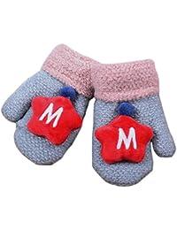 Hikfly Mignon Knit Moufles Mitaines Gants pour Bébé Filles Garçons Warmer  Mittens Cadeau De Noël( f1980bab9fe