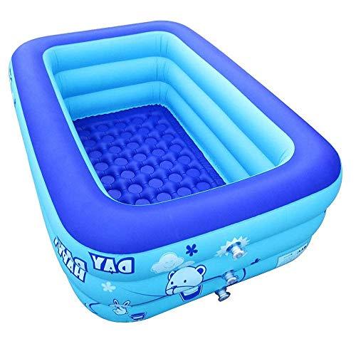 ZQY Aufblasbare Wärmflasche Mit Faltbarem Dauerhaftem Blauem Swimmingpool des Erwachsenen Babywärmflasche-Kinderkinderbadewannenspielzeugs Der Elektrischen Luftpumpe