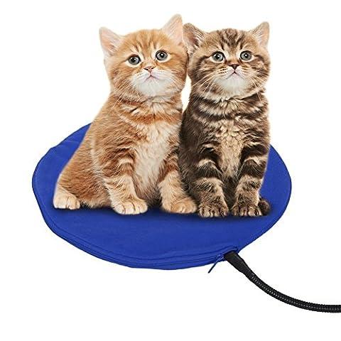 12W Heizmatte für Haustiere Wasserdicht Wärmematte Wärmer Beheizte Pet Mat Haustier Katze Hund Heizdecke 7 Temperatur Einstellbar zwischen 25℃-55℃ für Hunde und Katzen mit Anti-Bite Schnur von (Anzeige Mat)