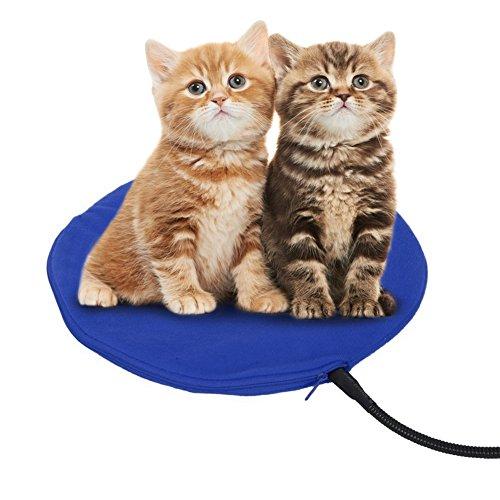 12W Heizmatte für Haustiere Wasserdicht Wärmematte Wärmer Beheizte Pet Mat Haustier Katze Hund Heizdecke 7 Temperatur Einstellbar zwischen 25℃-55℃ für Hunde und Katzen mit Anti-Bite Schnur von Zuoao