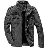 Nilesh Men's Coats Jackets,Winter Casual Fashion Pure Color Patchwork Jacket Zipper Outwear Coat (Nilesh JK16)