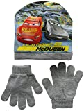 Disney Cars Lightning MC Queen 1St Place, Ensemble Bonnet, écharpe et Gant Garçon, Gris (Grey Optic White), 2.5