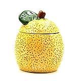 Hejwh GewüRzdose Mit Deckel, GewüRzboxen-Aufbewahrung Keramik-GewüRz-GewüRzdosen GewüRzbox Mit Deckel ServierlöFfel-Set 3 Grapefruit-Art