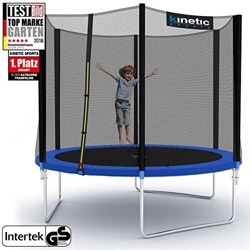 Kinetic Sports Outdoor Trampolin TPLH09 Gartentrampolin für Kinder und Erwachsene mit Randabdeckung und Sicherheitsnetz Ø 275 cm