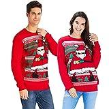 Goodstoworld Sueter Navideño Familia Mujer Hombre Unisex Ugly Christmas Sweater Novedad Feo Motivos Disfraz Navidad Jumper