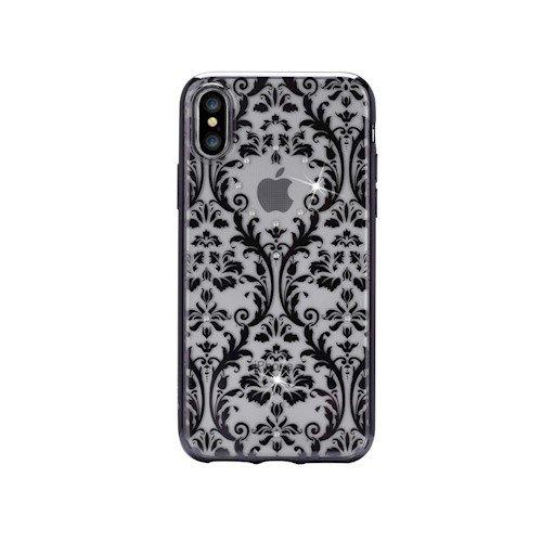 Devia barocco - cover per iphone x/xs, con cristalli swarovski