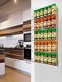 Neotechs - Rangement Rack pour épices chromé 40pc 5 étagères Mural ou Placard Cuisine