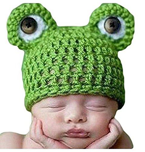 Isuper Fotografie Baby Hüte, Baby Hut Frosch Kostüm Handgestrickter Beanie Hut Neugeborene Baby Fotografie Requisiten