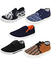 Super Men Combo Pack of 5 Casual Loafers Shoe with Sneaker